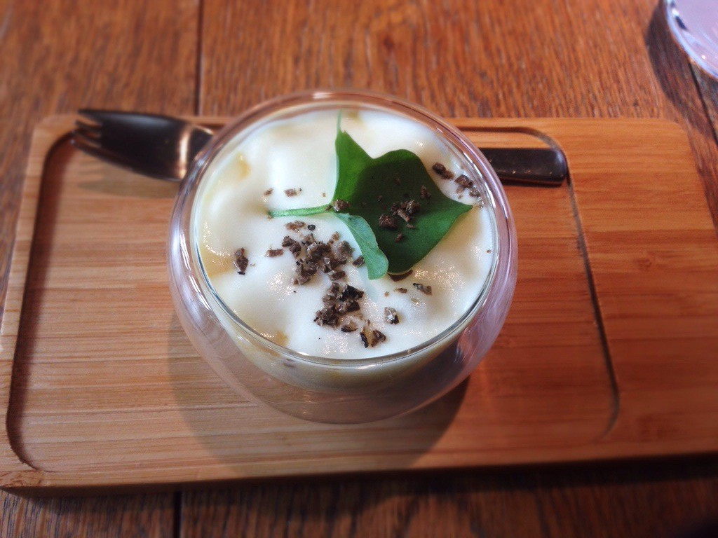1. It all started with soup. Potato consume with truffle foam and shaved black truffle. Simple, elegant, heavenly.