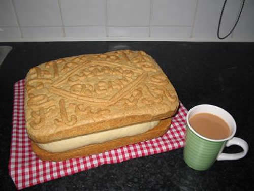 Like a giant custard cream, it was a bit much